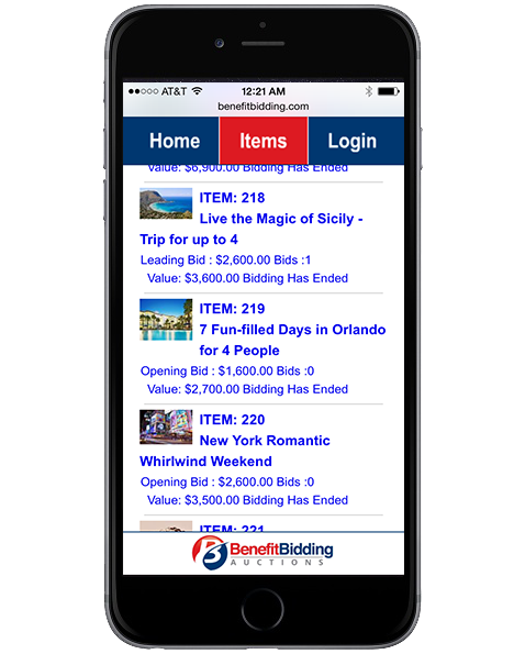 Mobile Bidding on Your Mobile Device