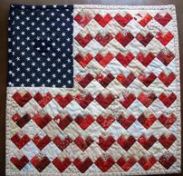 Flag Quilt with Hearts