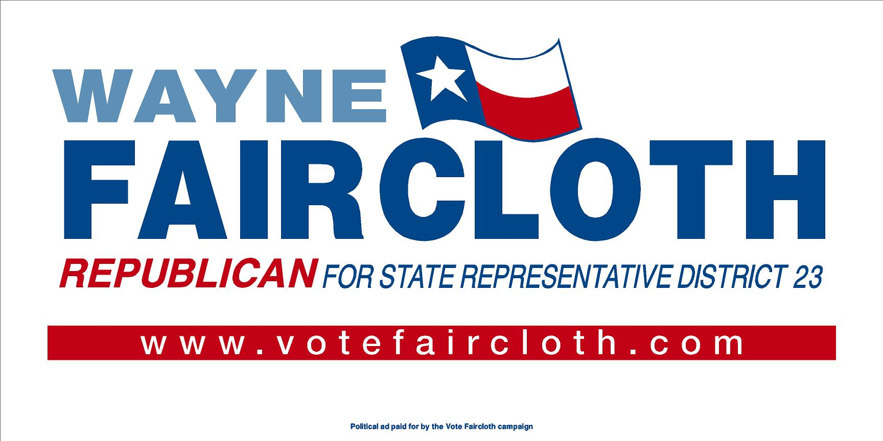 Wayne Faircloth, Your State Representative