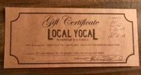 Local Yocal Barbeque & Grill Private Dinner for 10 Gift Certificate 202//107