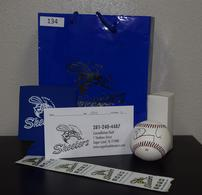 Skeeters tickets, t-shirt, signed baseball 202//195