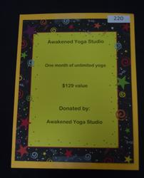 One month of unlimited yoga 202//250