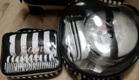 Black and White Stripe Travel Set/Shoe Bags 202//117