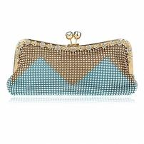 Blue and Gold French Clutch 202//202