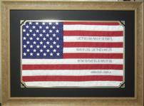 American Flag with Embrodiered Abraham Lincoln Quote 202//149