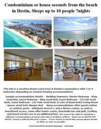 Destin for 10 people for 7 nights 202//259