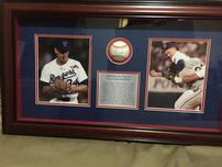 Nolan Ryan Shadowbox with Autographed Ball 202//152