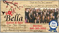 Spa Package from Bella Salon of Denton 202//115