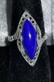 Lapis With Marcasite Ring 183//280
