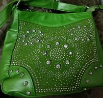 Green Purse with Crystals 202//192