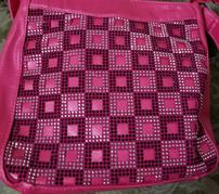 Hot Pink Purse with Squares 202//179