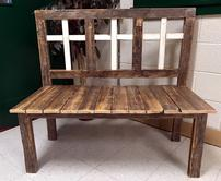 Holy Trinity Rustic Bench 202//166
