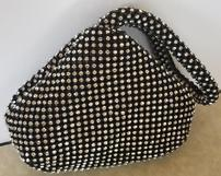 Black and Crystal Triangle Purse 202//161