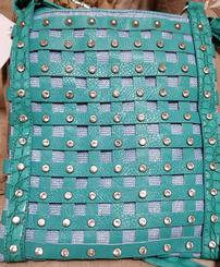 Woven Turquoise Purse with Crystals 202//245