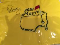 2018 signed Masters golf pin flag 202//151