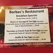 Five (5) $10 Gift Certificates to Barbec's Restaurant 202//202