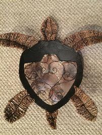 Wicker and Metal Turtle Wall Art 202//269