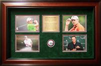 Jordan Spieth Signed Golfball Shadowbox 202//133