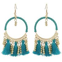 Designer Beaded Tassel Dangle Earrings 202//202