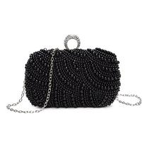 Crystal Beaded Black Evening Clutch 202//202