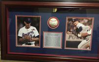Nolan Ryan Texas Rangers Shadowbox with Signed Baseball 202//127