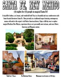 Santa Fe for 4 People for 4 Nights 202//260