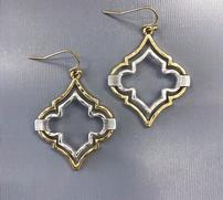 Geometric Gold and Silver Drop Earrings 202//181