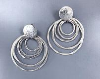 Silver Circle Dangle Earrings 202//160