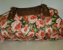 Floral Duffel Bag with Leather Handles 202//161