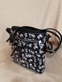 Floral Black Crossbody With Attached Power Bar 202//269