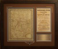 Lonesome Dove Cattle Trail Help Wanted  Map and Poster 202//171