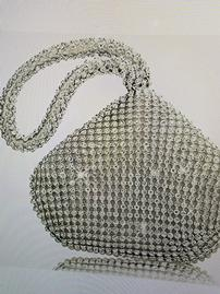 Silver and Crystal Triangle Evening Bag 202//269