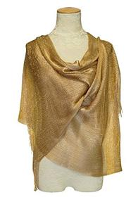 Gold Sparkle Scarf/Shawl 196//280
