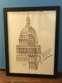 Bob Hall Signed TX Capital Framed Photo 202//269