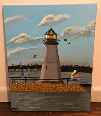 Custom Canvas Rockwall Harbor Painting 202//231
