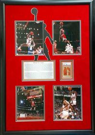 Michael Jordan Photo Collage with Signed Card 197//280