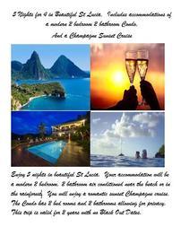 St Lucia for 4 for 5 Nights 202//262