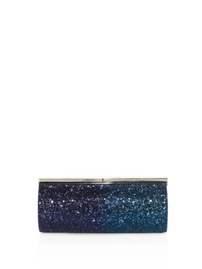 Jimmy Choo Trinket Coarse Glitter Clutch/Safilo