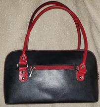 Leather Black with Red Accents Purse 202//216
