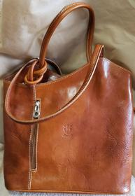 Leather Camel Backpack Purse 193//280