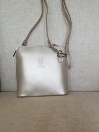 Leather  Silver Crossbody 202//269