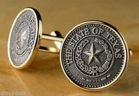 Pewter Seal of Texas Cufflinks 202//139