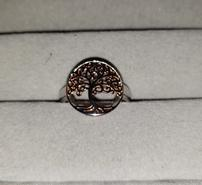 Sterling Silver Rose Gold Tree of Life Ring 202//185