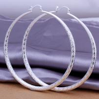 Large Sterling Silver Hoop Earrings 202//202