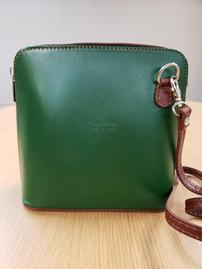 Handpicked From Florence Italy Forest Green Crossbody 202//269