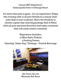 Luxury NFL Experience Indianapolis Colts vs Chicago Bears //0
