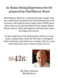 In-Home Dining Experience for (8) by Chef Shawn Ward of Ward 426 //0
