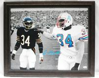 EARL CAMPBELL AUTOGRAPHED HOUSTON OILERS PHOTO 202//159