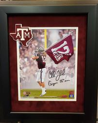CULLEN GILLASPIA AUTOGRAPHED TEXAS A&M PIECE 202//254