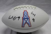 EARL CAMPBELL AUTOGRAPHED HOUSTON OILERS FOOTBALL 202//135